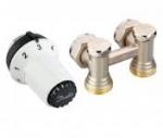 """Комплект радиаторных терморегуляторов для нижнего подключения радиатора клапан RLV-KS угловой, термоголовка  RAS-CК (радиаторы с встроенными вентильными вставками М30х1.5), подключение к системе G3/4""""  подключение к радиатору R1/2"""""""