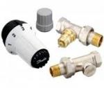 Комплект радиаторных терморегуляторов прямой, клапан RA-FN, термоголовка RAS-C, клапан запорный RLV-S